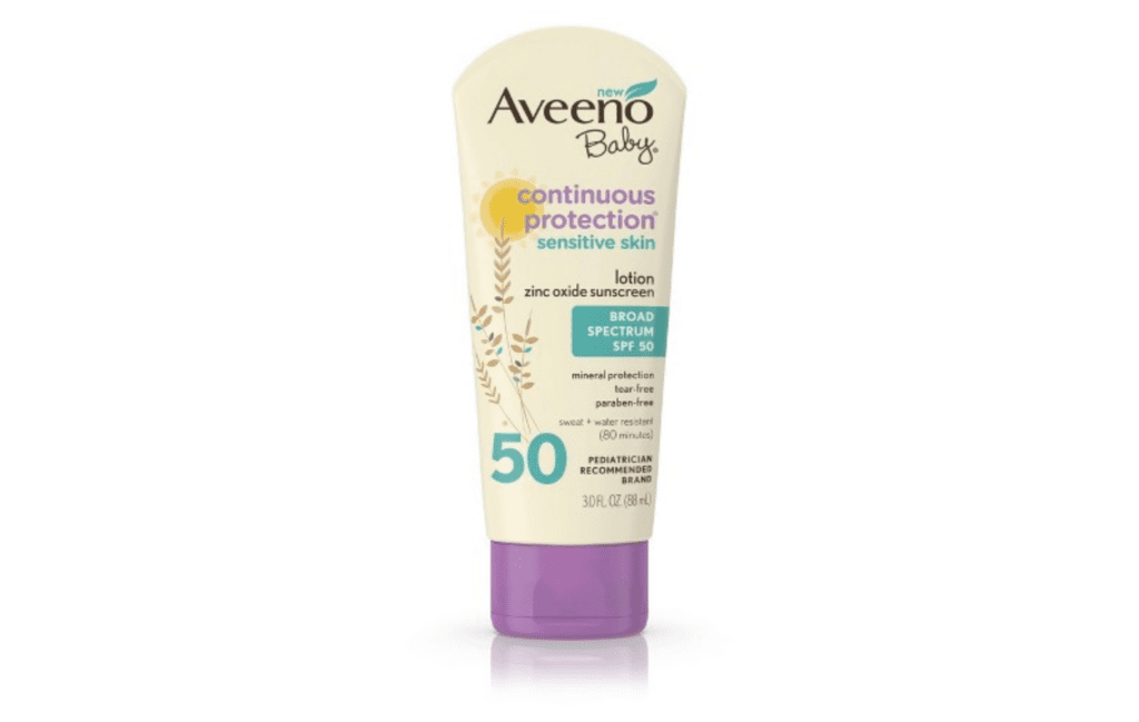 Aveeno Baby Sunscreen - Zinc Oxide Sensitive Skin Lotion SPF 50