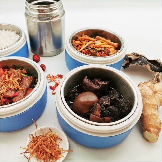 Eat Right With Chilli Padi Confinement - Chilli Padi serve in thermal containers