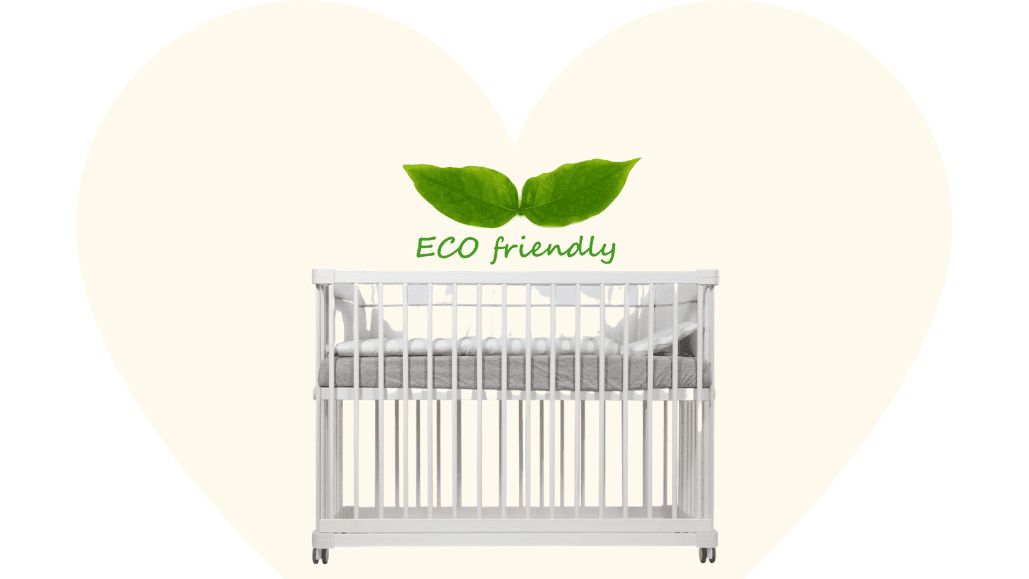 Eco-friendly and baby safe Beblum Lavo 5 Baby Cot