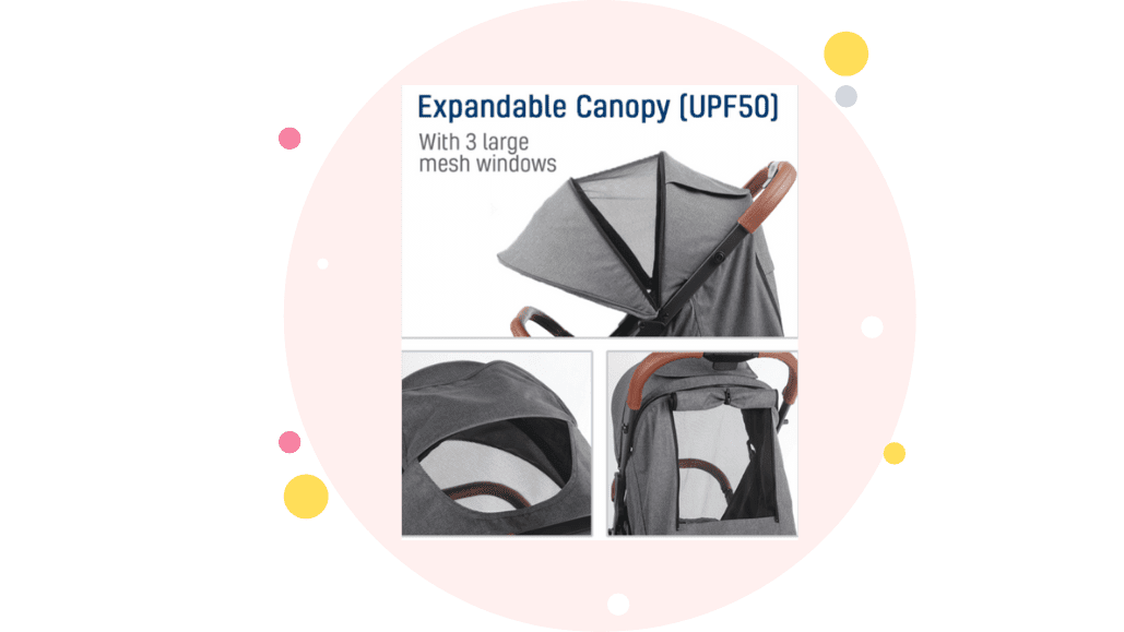 Expandable Canopy Keenz Air Plus 2.0 Stoller