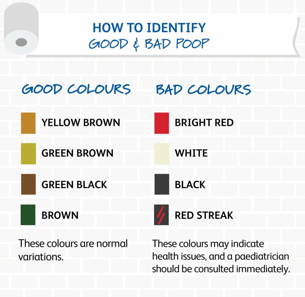FRISO how to identify good and bad poop by colors