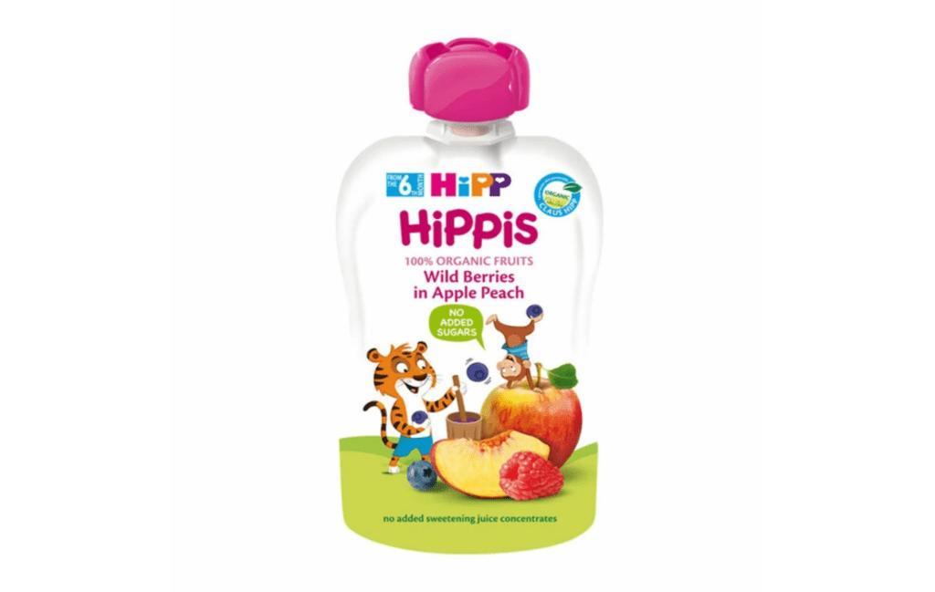 Hipp Organic Wildberries in Apple Peach Pouch