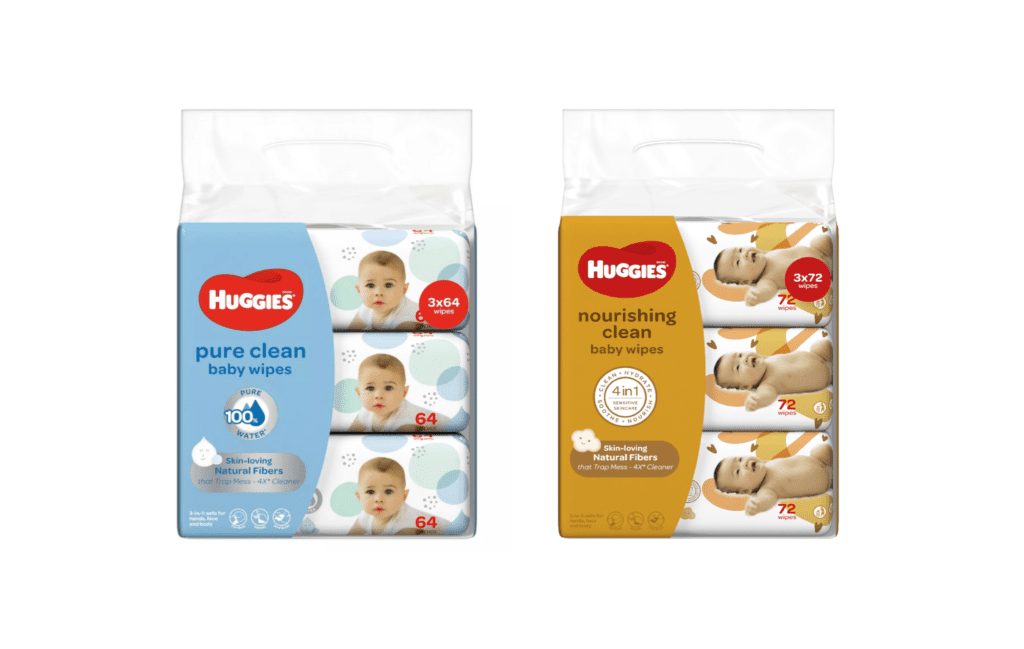 Huggies Nourishing Clean and Pure Clean Baby Wipes