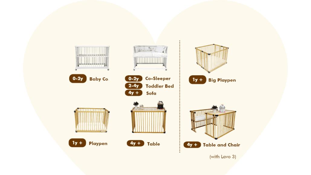 Multi-functional Beblum Lavo 5 Baby Cot