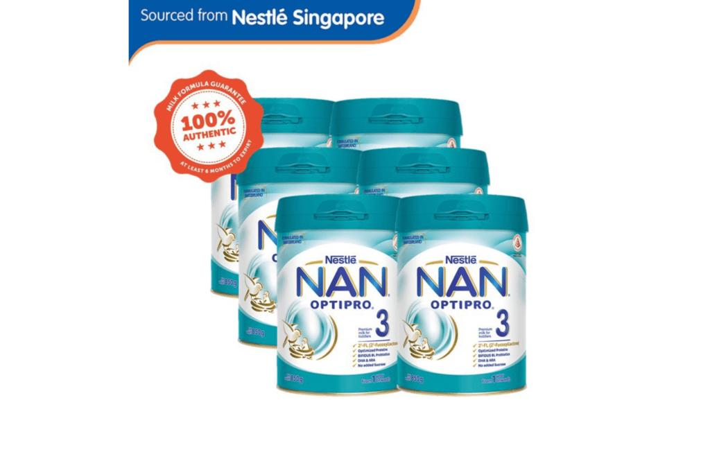 Nestlé NAN OPTIPRO 3 Growing Up Milk 2'-FL 850g x6