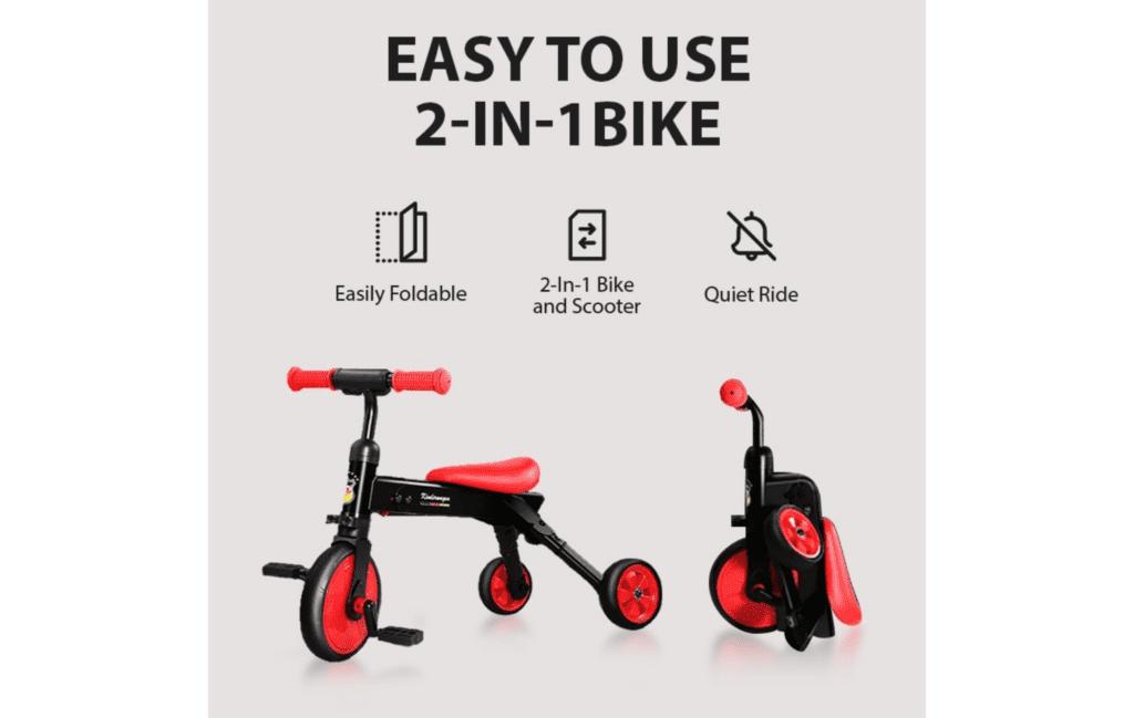 Pouch Children's Balance Bike Red + Black B03