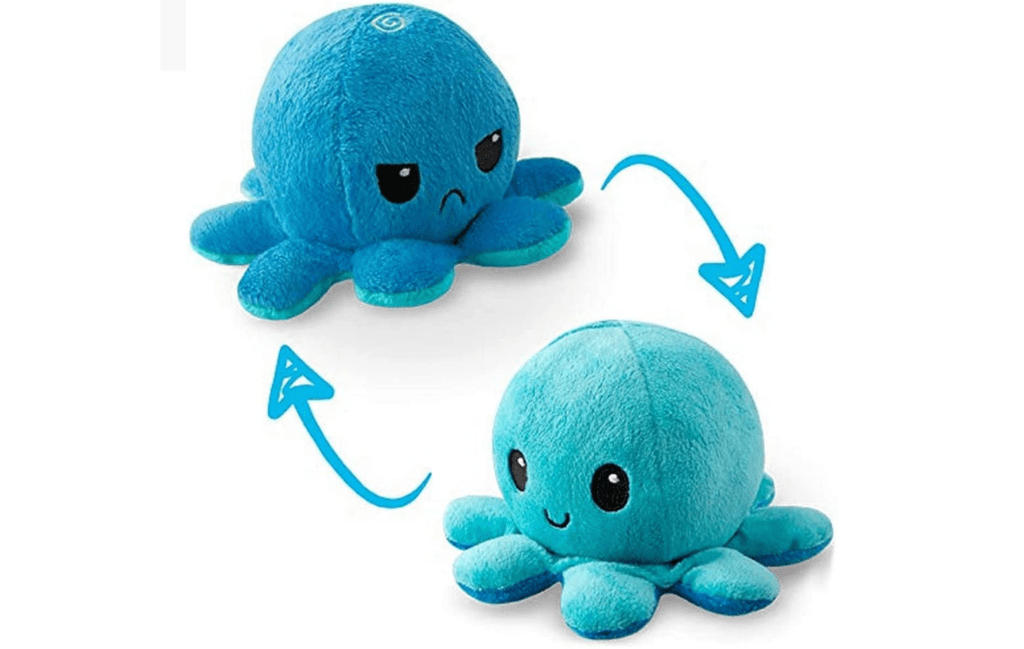TeeTurtle Reversible Octopus Mini Plush Squishy Soft Toy