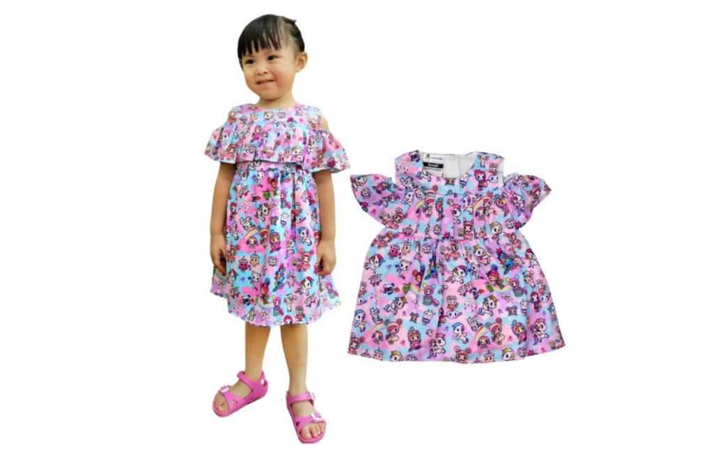 Tokidoki Pastel Camo Off-shoulder Dress