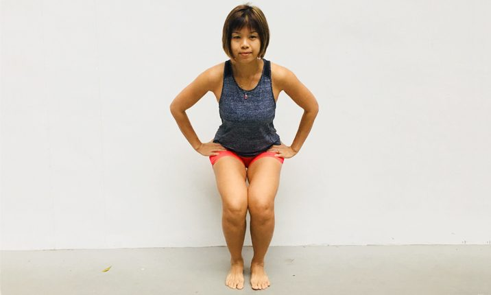 body squats to strengthen pelvic floor muscles