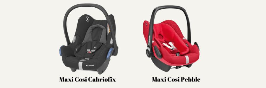 maxi cosi cabriofix abd naxu cosi pebble car seats