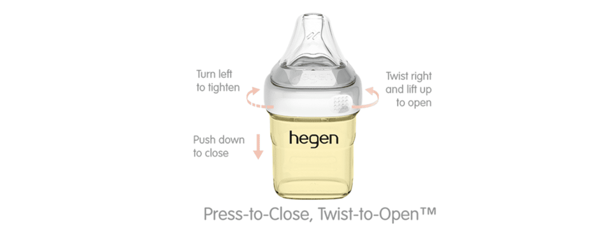 spill-safe hegen bottles seal