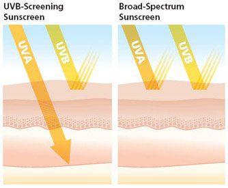 sunscreen UVA and UVB